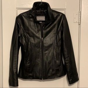 Wilson women's fitted leather jacket
